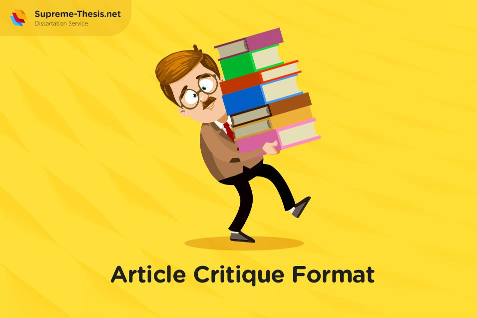 Tips on Article Critique Format